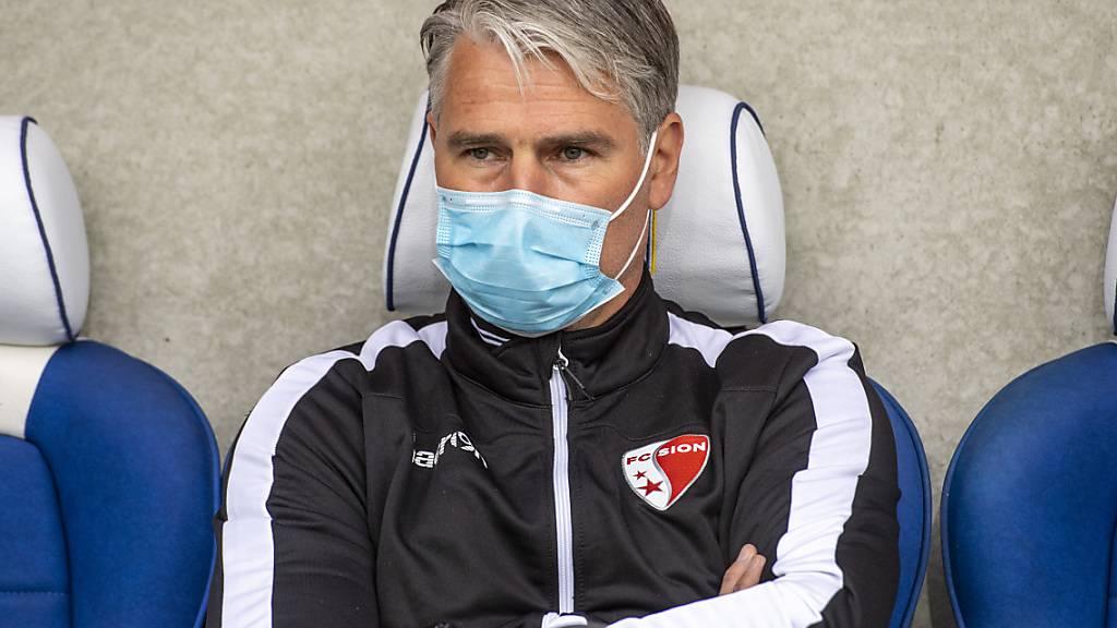 Viel Luft hat Sions Cheftrainer Marco Walker im Kampf gegen den Abstieg nicht mehr