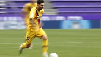 Der entscheidende Assist, aber wieder kein Tor: Lionel Messi ging bei Barcelonas 1:0 in Valladolid leer aus