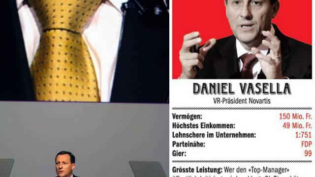 Daniel Vasella: Vom Arbeitgeber gelobt; von Kritikern an den Pranger gestellt
