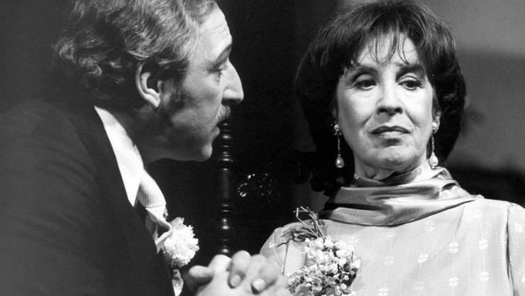 Peter Ehrlich (l) - hier zusammen mit Maria Becker 1981 im Zürcher Schaupspielhaus - ist am 26. Juli gestorben, wie erst jetzt bekannt wurde (Archiv).