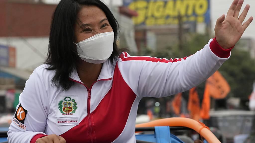 Die Rechtspopulistin Keiko Fujimori steht für eine neoliberale Wirtschaftspolitik und eine Sicherheitsstrategie der harten Hand. Foto: Martin Mejia/AP/dpa