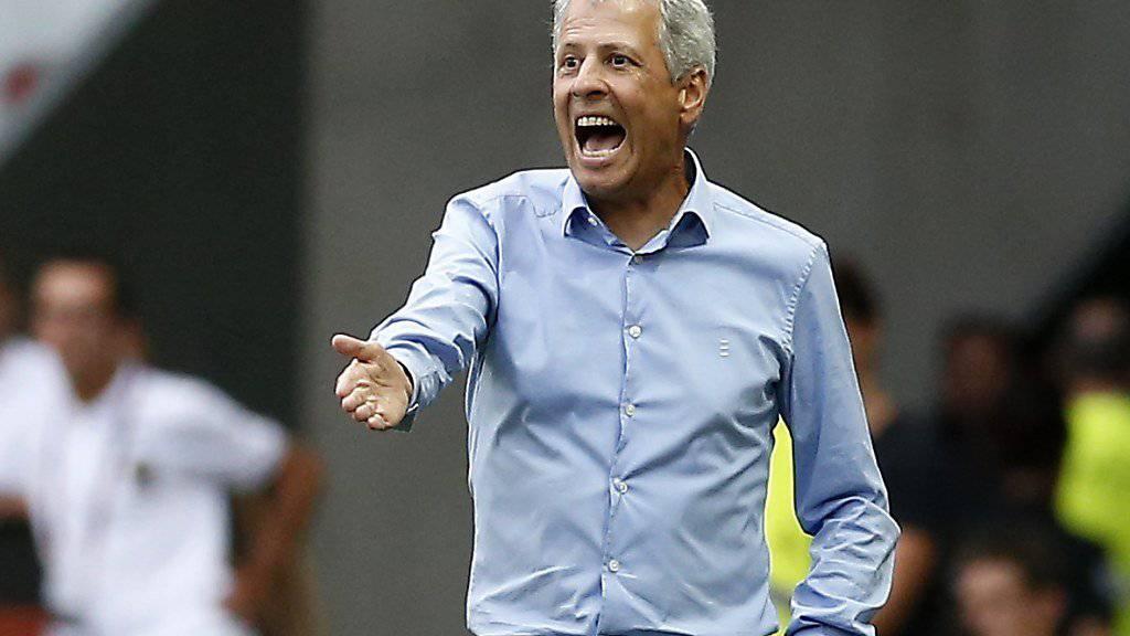 Lucien Favre ist mit Nice nach zwei Ligue-1-Runden noch ohne Punktgewinn