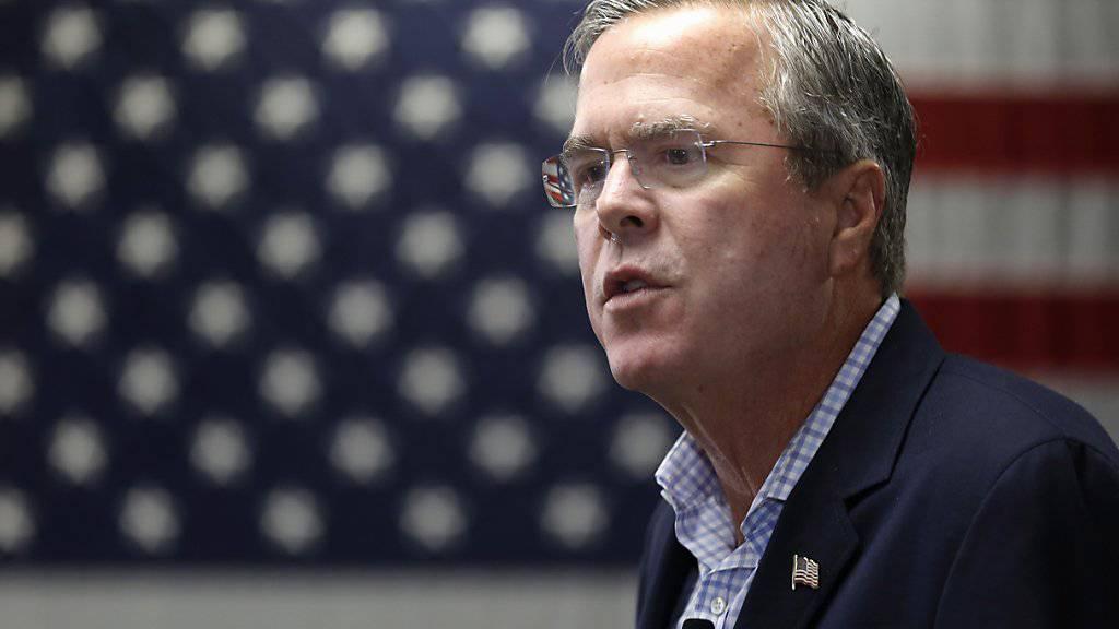 Die Anschläge in Paris sind auch im Vorwahlkampf der US-Republikaner zum Thema geworden: Bewerber Jeb Bush. (Archivbild)