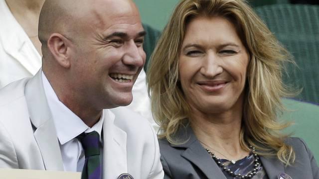 Steffi Graf und Ehemann Andre Agassi nehmen sich Zeit (Archiv)