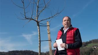 Markus Dieth hofft, dass der Apfelbaum des Finanzdepartements bald Früchte trägt.