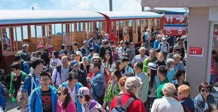 Touristen auf der Rigi.