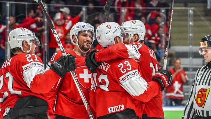 Die Schweiz gewinnt auch das dritte WM-Gruppenspiel.