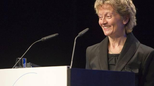 SP und GLP stellen für die Wiederwahl von Bundesrätin Eveline Widmer-Schlumpf Bedingungen (Archiv)