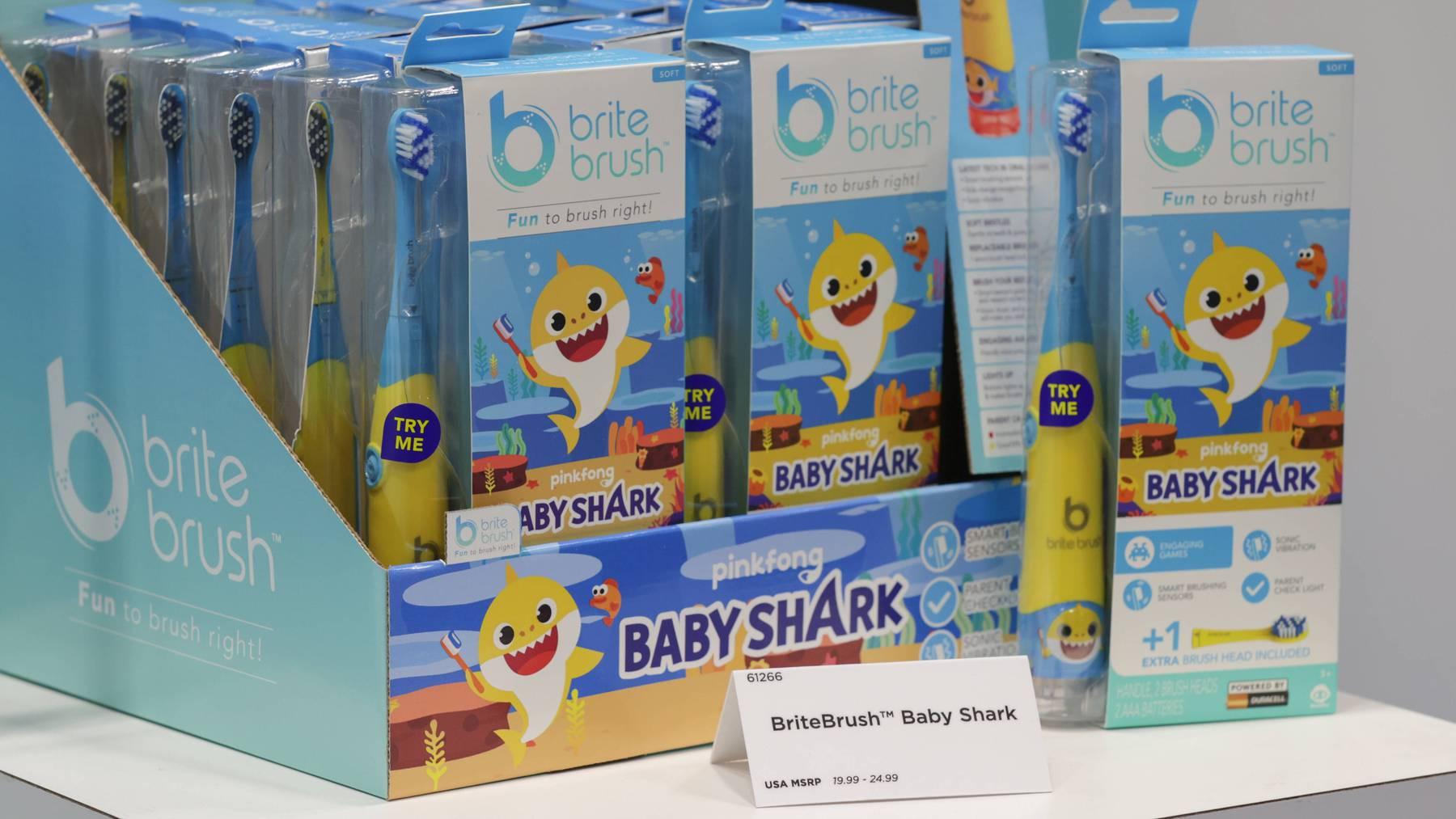 Natürlich wird der Erfolg von «Baby Shark» auch richtig vermarktet.