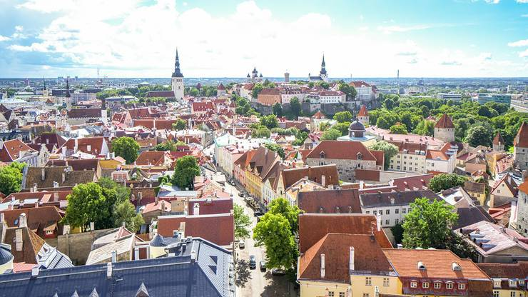 Blick über die Altstadt der estnischen Hauptstadt Tallinn.