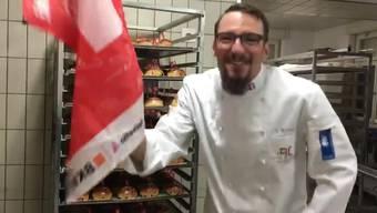 So freut man sich in der Bäckerei Sollmerger in Gontenschwil über den Erfolg: «Meister, Weltmeister, schalalalala... »