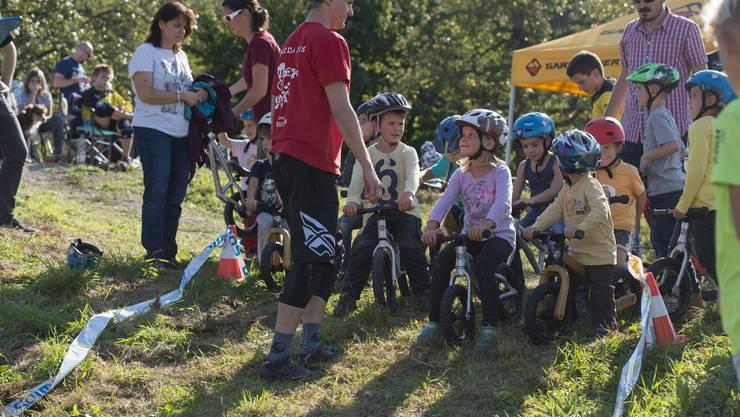 Die Kinder hatten viel Spass am «Like-a-Bike»-Rennen.