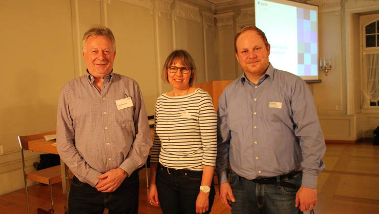 Felix Bühlmann (Präsident), Doris Elsasser (Sekretariat) und Stefan Strausak