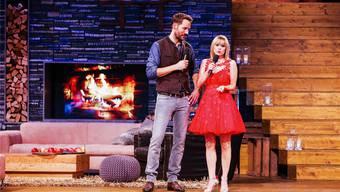 Alexander Mazza und Francine Jordi bei der ersten «Stadlshow» in Offenburg im September.Peter Krivograd/ORF