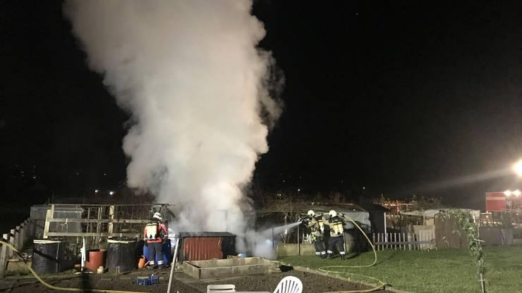 Die Feuerwehr reagierte schnell und konnte den Brand löschen.