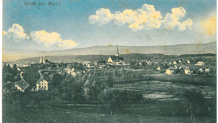 Die Fräuleins Marie und Elise Kuster in Kriens wurden 1914 von J. Wigger aus Muri gegrüsst.