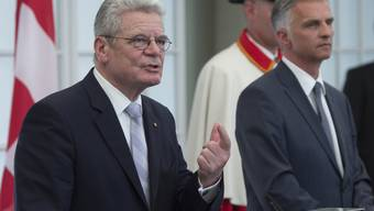 Der deutsche Bundespräsident Joachim Gauck besucht die Schweiz