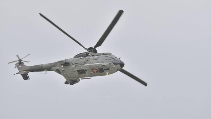Am Montag landete ein Super Puma der Schweizer Luftwaffe in Solothurn. (Archiv)
