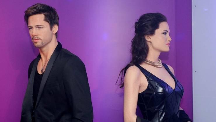Angelina Jolie und Brat Pitt, hier als Wachsfiguren, sind seit Mitte April 2019 offiziell wieder Singles. (Archiv)