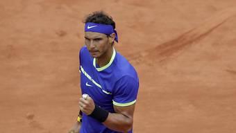An alter Erfolgsstätte wieder sehr stark: Rafael Nadal startete überzeugend ins French Open.