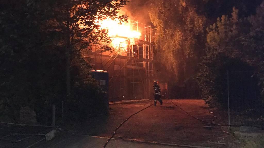 Mehrere 10'000 Franken Schaden nach Brand bei Kindergarten-Neubau