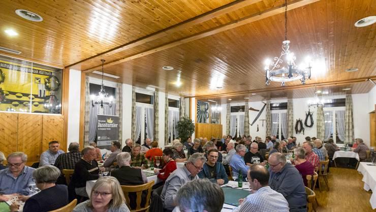 Impressionen vom ersten AZ-Jasskönig-Turnier 2019 in der «Traube» in Küttigen