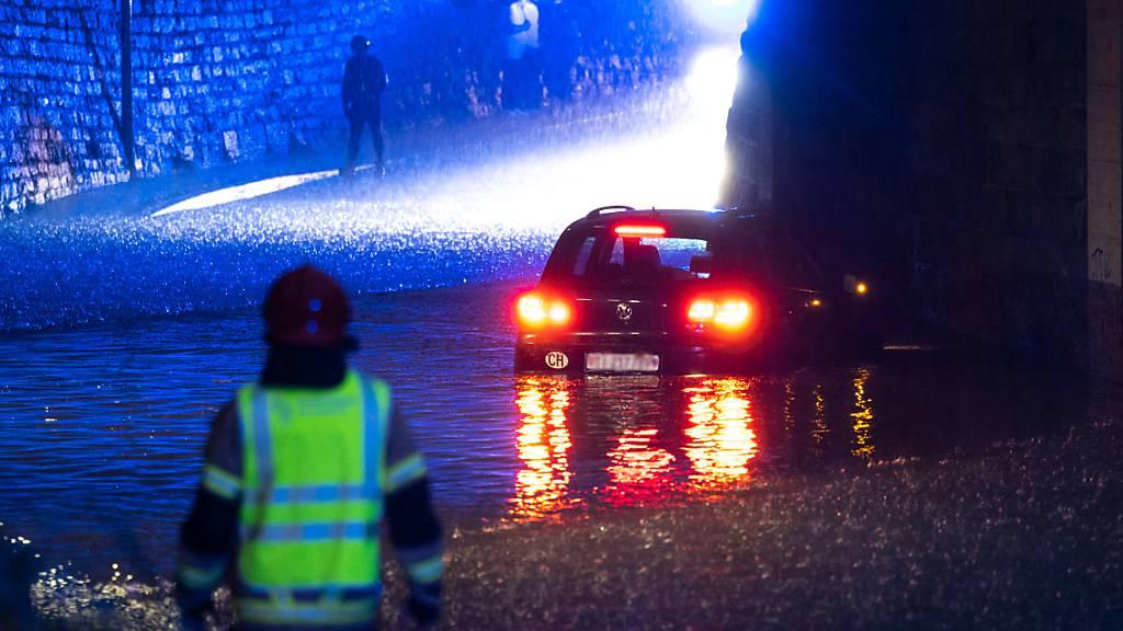 Überschwemmungen im Tessin - Kindergarten in Bellinzona überflutet