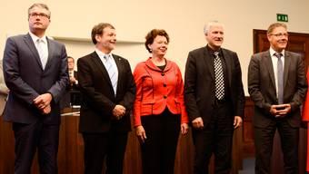 Die Solothurner Regierung bei der Vereidigung im Juli 2013 (Archiv)