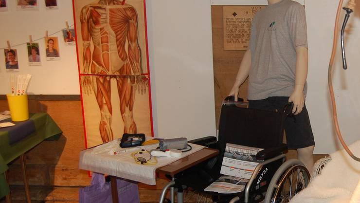 Im Spycher präsentiert die Spitex den Fortschritt der Hilfsmittel inder Hauspflege. HH