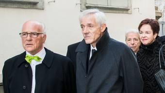 Ueli Vischer (am Dies Academicus 2017, Mitte) bleibt Unirats-Präsident – aber nur für eine halbe Amtsperiode.