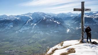 In der Ostschweiz bebte die Erde. Das Epizentrum lag in Sargans. Im Bild: Blick vom Gonzen auf Sargans.