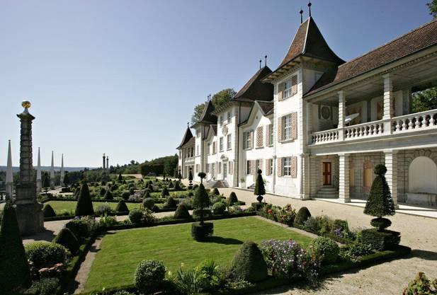 Der Barockgarten des Schloss Waldegg.