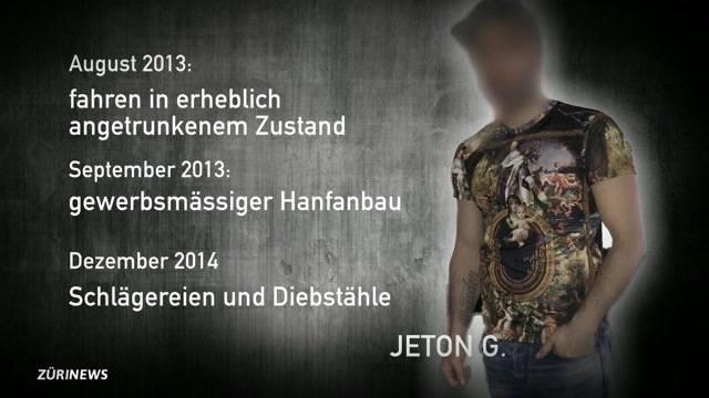 Sozialhilfebezüger Jeton G. mehrfach vorbestraft