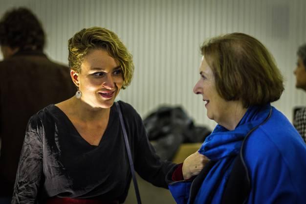 Wahlen 2015 im Aargau: Irène Kälin und Christine Egerszegi (FDP) im Grossratskeller.