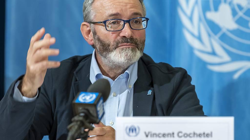 Das Uno-Hochkommissariat für Flüchtlinge (UNHCR) sucht laut seinem Sonderbeauftragten Vincent Cochetel Aufnahmeländer für die 45'000 Menschen, die die Uno-Organisation in Libyen als Flüchtlinge registriert hat.