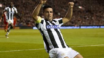 Antonio Di Natale glich für Udinese aus.