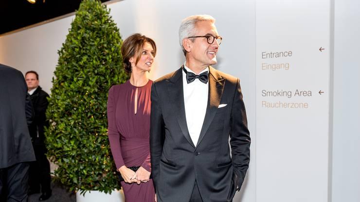 Zur grossen Freude von ABB-CEO Ulrich Spiesshofer und seiner Frau.