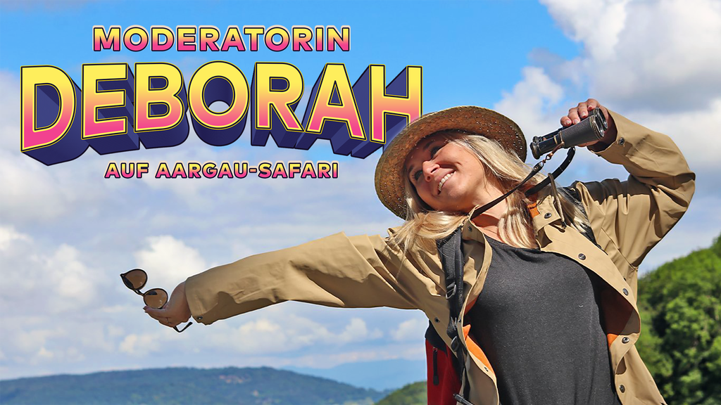 Moderatorin Deborah auf Aargau-Safari