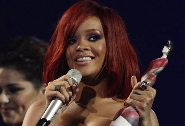 US-Superstar Rihanna nahm den Preis als Beste Internationale Künstlerin entgegen.