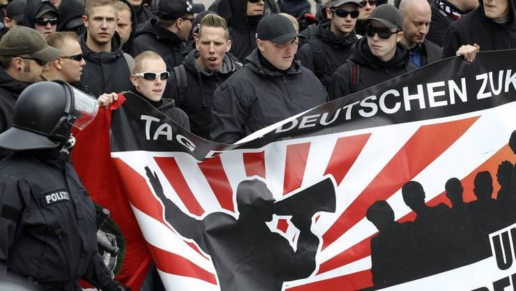 Rechtsextreme demonstrieren in Hamburg