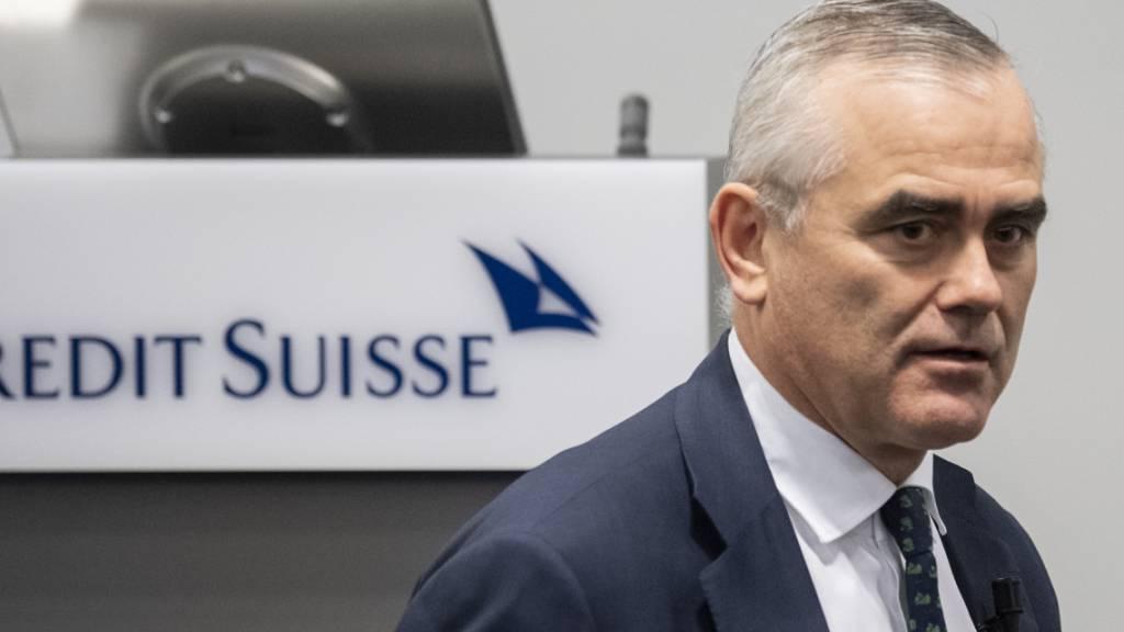 Credit-Suisse-Chef Thomas Gottstein hat 2020 in seinem ersten Jahr an der Spitze der Grossbank ein Gehalt von 8,5 Millionen Franken erhalten. Damit verdiente er weniger als sein Vorgänger als CEO Tidjane Thiam, der 10,7 Millionen kassierte (Archivbild)