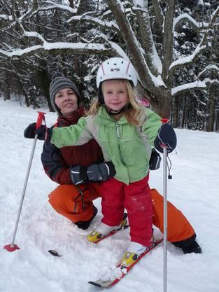 Sophia (5) mit ihrer Mutter Sandra Kerbler