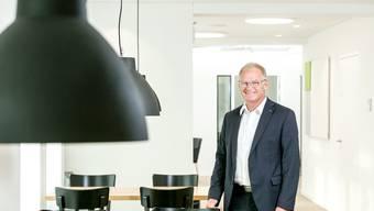 «Um mich herum kommt niemand zur Ruhe», sagt Daniel Lüscher, der seine berufliche Laufbahn mit einem KV bei den Weinkellereien Aarau begann.