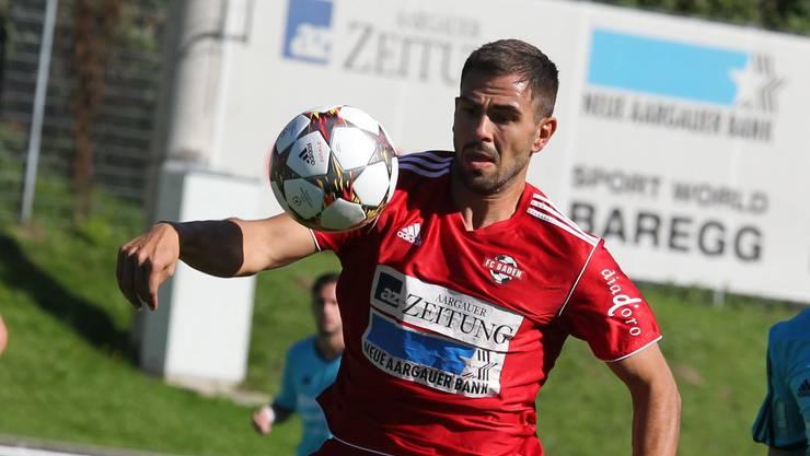 Der FC Baden in Aktion.