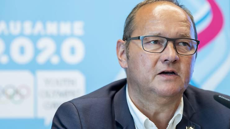 Jürg Stahl präsidiert Swiss Olympic, den Dachverband des Schweizer Sports, für weitere vier Jahre