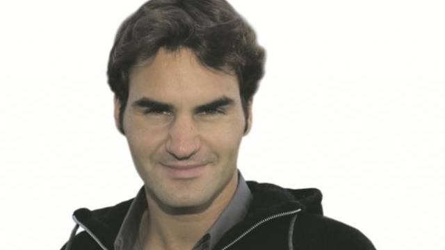 Roger Federer als Opfer der Frankenstärke. Foto: Georgios Kefalas - Keystone