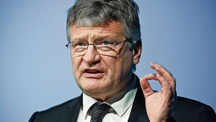 AfD-Chef Jörg Meuthen beim Parteitag in Kalkar.
