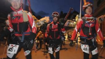Teilnehmer des Gletscherlaufs