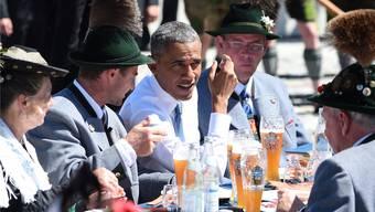 Barack Obama und Angela Merkel am G7-Gipfel in Deutschland