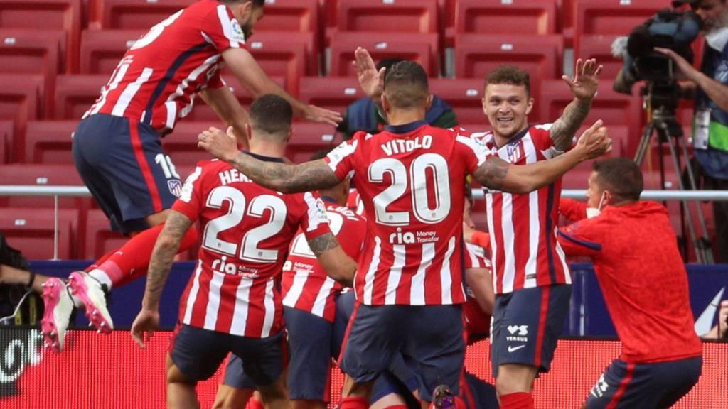 Riesenjubel unter den Spielern von Atlético Madrid